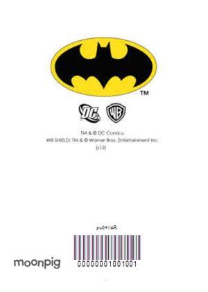 Greeting Cards - Blue Batman And Bat Signal Personalised Birthday Card - Image 4