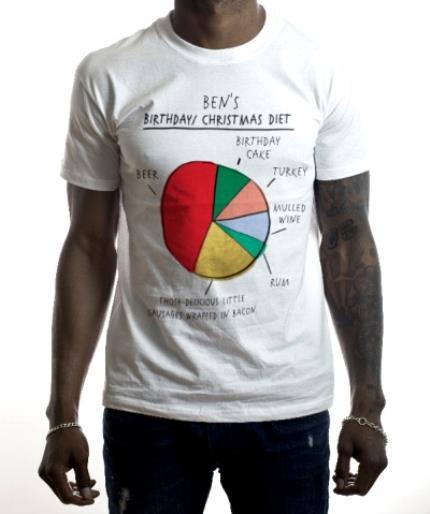 T-Shirts - Bouncy Banana The Birthday/Christmas Diet Personalised T-Shirt - Image 2