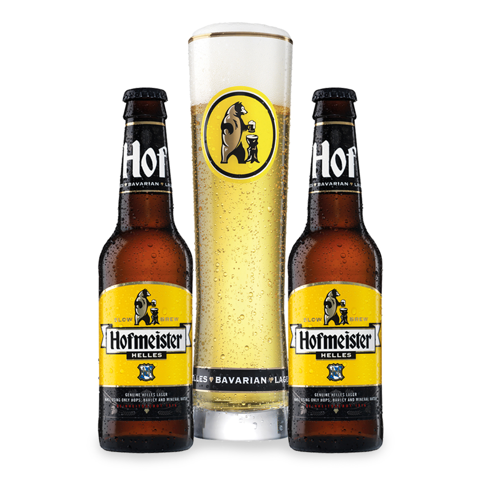 Alcohol Gifts - Hofmeister 2 Pack Selection & Glass - Image 1