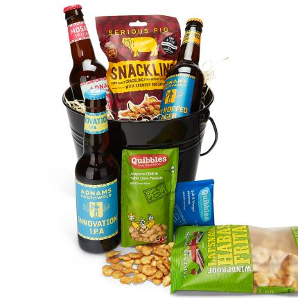 Alcohol Gifts - Beer & Snacks Bucket - Image 1