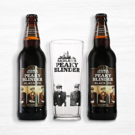 Alcohol Gifts - Peaky Blinders Gift Set with Pint Glass - Image 1