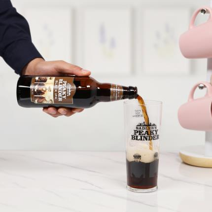 Alcohol Gifts - Peaky Blinders Gift Set with Pint Glass - Image 2