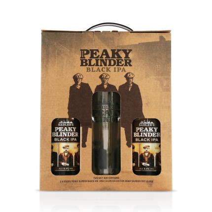 Alcohol Gifts - Peaky Blinders Gift Set with Pint Glass - Image 4