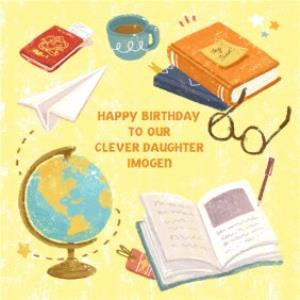 Greeting Cards - Bits And Bobs Clever Daughter Personalised Card - Image 1