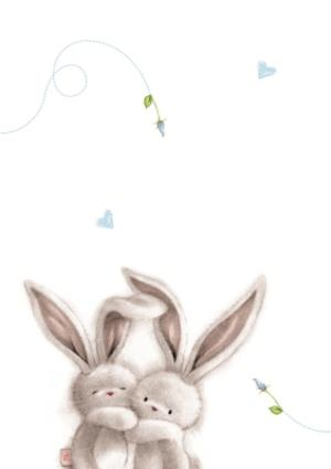 Greeting Cards - Be Bunni Time To Celebrate Personalised 25th Wedding Anniversary Card - Image 2