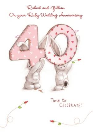 Greeting Cards - 40th Anniversary Card - Image 1