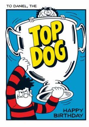 Greeting Cards - Beano Top Dog Happy Birthday Card - Image 1