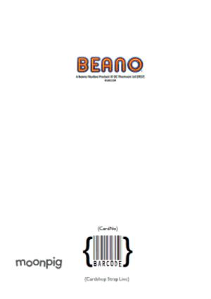 Greeting Cards - Beano Dennis The Menace Personalised Card - Image 4