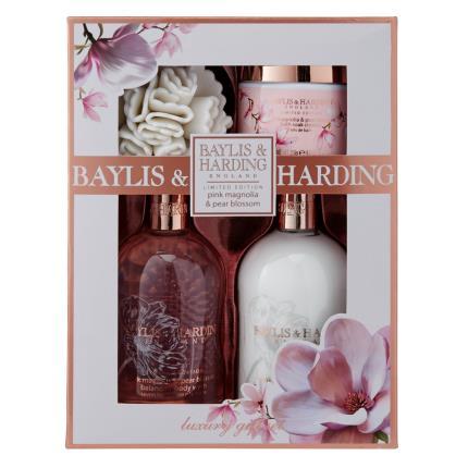 Beauty - Baylis & Harding Pink Magnolia & Pear Blossom Benefit Set - NEW! - Image 1