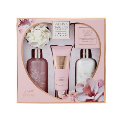 Beauty - Baylis & Harding Pink Magnolia & Pear Blossom Large Gift Set - NEW! - Image 1