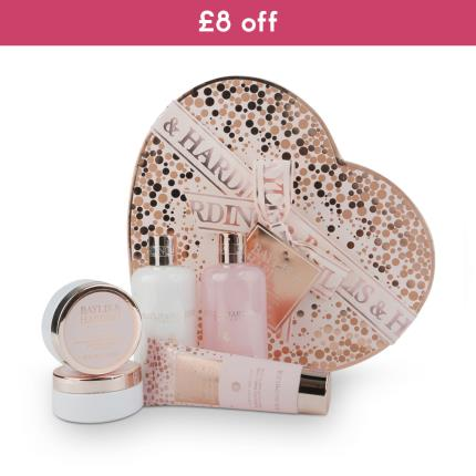 Beauty - Baylis & Harding Pink Prosecco & Cassis Large Heart Box Set WAS £25 NOW £16 - Image 1