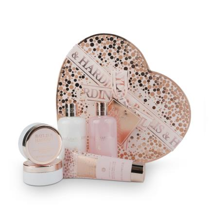 Beauty - Baylis & Harding Pink Prosecco & Cassis Large Heart Box Set WAS £25 NOW £16 - Image 2