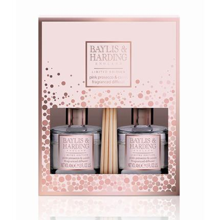 Beauty - Baylis & Harding Pink Prosecco & Cassis Duo Diffuser Set - Image 1