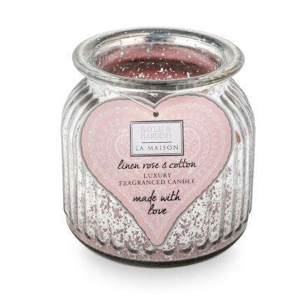 Beauty - Baylis & Harding La Maison 780g Candle With Large Glass Holder WAS £15 NOW £12 - Image 1
