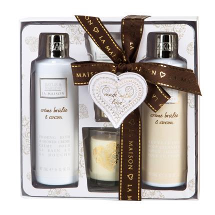 Beauty - Baylis & Harding La Maison Creme Brulee & Cocoa Candle Set - Image 1