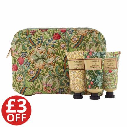 Beauty - Morris & Co Golden Lily Hand Cream tiro & wash bag - WAS £20 NOW £17 - Image 1