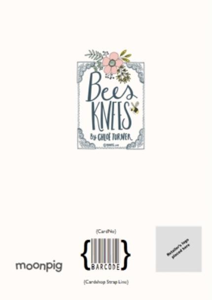 Greeting Cards - Bees Knees Baby Girl Pink Flower Photo Upload Card - Image 4