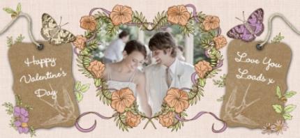 Mugs - Flowers and Big Heart Photo Upload Mug - Image 4