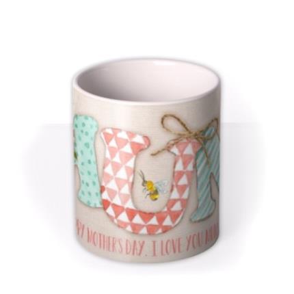 Mugs - Mother's Day MUM Personalised Mug - Image 3