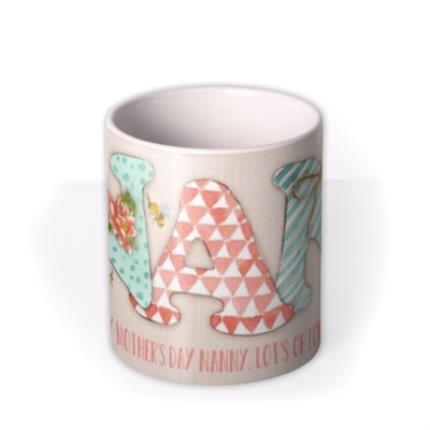 Mugs - Mother's Day NAN Personalised Mug - Image 3
