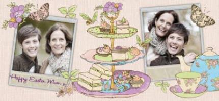 Mugs - Easter Tea and Cake Photo Upload Mug - Image 4