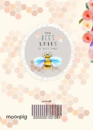 Flowers And Bees Personalised Double Photo Upload Happy Birthday