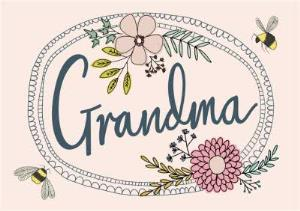 Greeting Cards - Mother's Day Card - Grandma - Bees and Flowers - Image 1