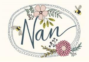 Greeting Cards - Mother's Day Card - Nan - Flowers and Bees - Image 1