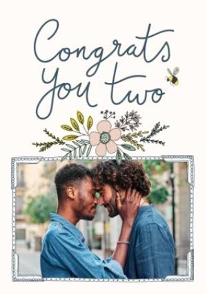 Greeting Cards - Bees Knees Congrats You Two Card - Image 1