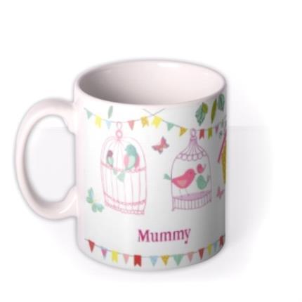 Mugs - Easter Bird Cages Personalised Mug - Image 1