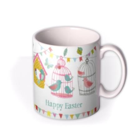 Mugs - Easter Bird Cages Personalised Mug - Image 2