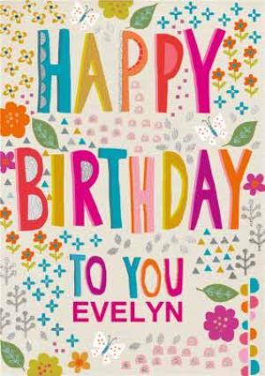Greeting Cards - Birthday Card - Happy Birthday - Floral - Image 1