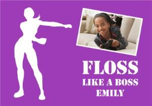 Greeting Cards - Birthday Card - Photo Upload - Floss - Floss Like A Boss - Fortnite - Image 1