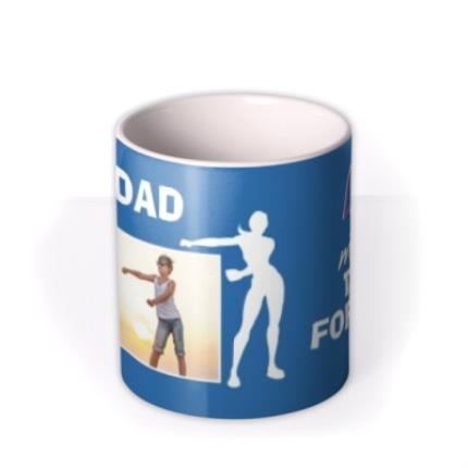 Mugs - Dad I love you more than Fortnite Father's Day photo upload mug - Image 3