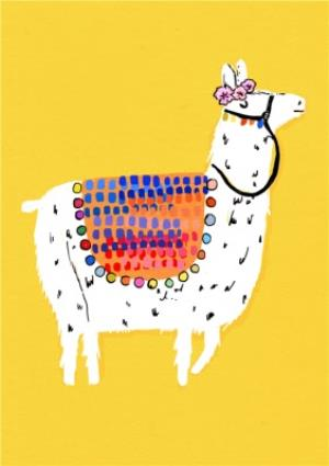 Graphic Alpaca Personalised Happy Birthday Card