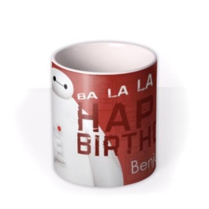Mugs - Big Hero 6 Baymax Birthday Personalised Mug - Image 3