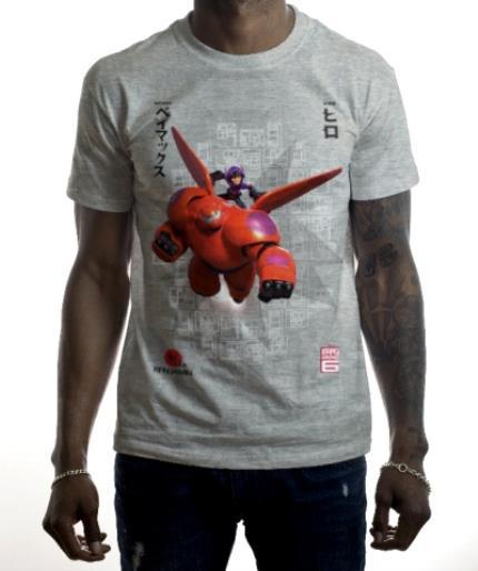 T-Shirts - Big Hero 6 Hiro and Baymax Personalised T-shirt - Image 2