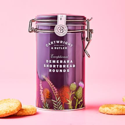 Food Gifts - Cartwright & Butler Demerara Shortbread Tin - Image 1