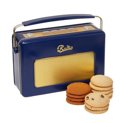 Food Gifts - Retro Navy Radio Biscuit Tin - NEW! - Image 1