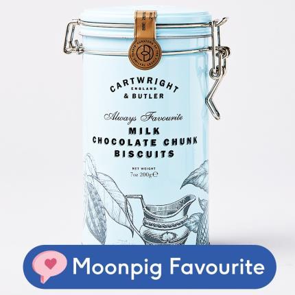 Food Gifts - Cartwright & Butler Milk Chocolate Chunk Tin - Image 1