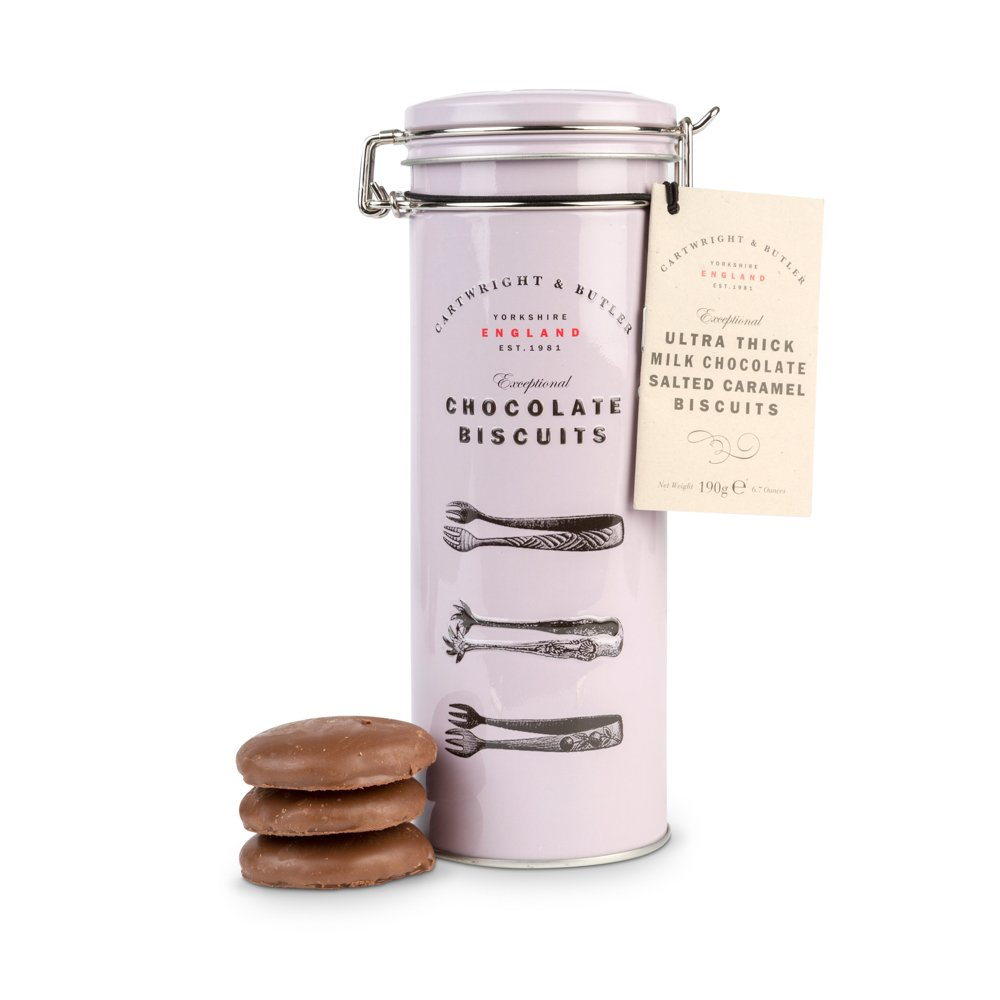 Food Gifts - Cartwright & Butler Ultra Thick Milk Chocolate Salted Caramel Biscuit - Image 1