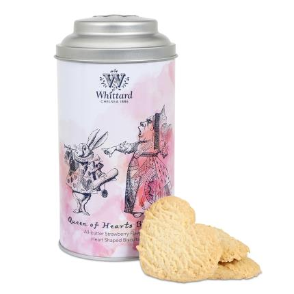 Food Gifts - Whittard of Chelsea Queen of Hearts Strawberry Shortbread Biscuits - Image 1