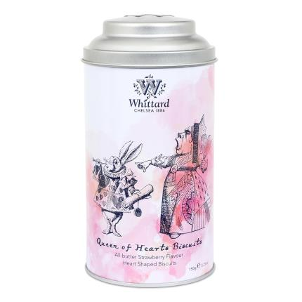 Food Gifts - Whittard of Chelsea Queen of Hearts Strawberry Shortbread Biscuits - Image 2