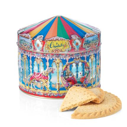 Food Gifts - Carousel Shortbread Gift Tin - Image 1