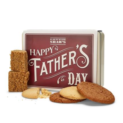 Food Gifts - 'Happy Father's Day' Tin of Treats - Image 1