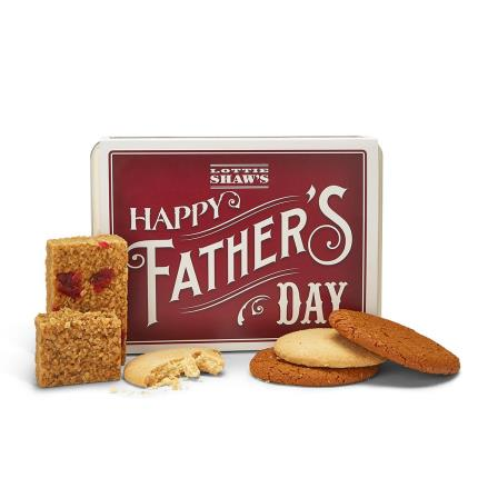 Food Gifts - 'Happy Father's Day' Tin of Treats - Image 2