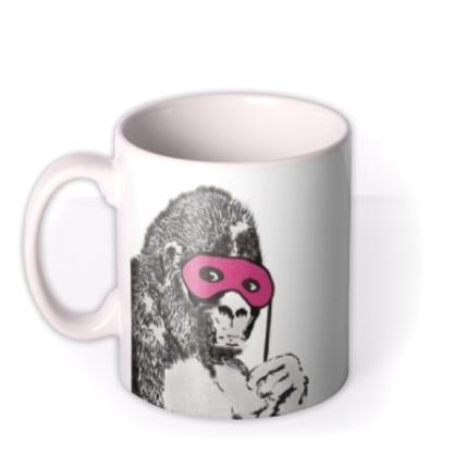 Mugs - Banksy Graffiti Gorilla Mug - Image 1