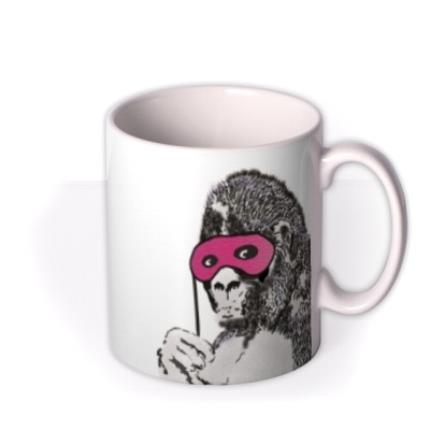 Mugs - Banksy Graffiti Gorilla Mug - Image 2