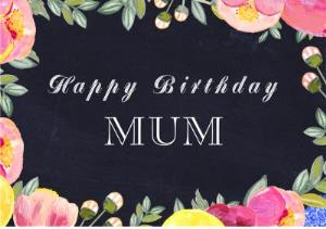 Greeting Cards - Birthday Card - Mum - floral - traditional - Image 1