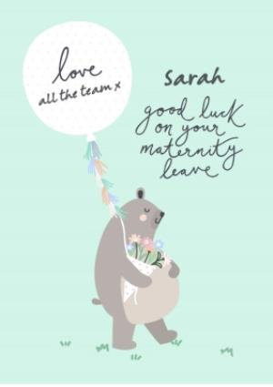 Greeting Cards - Bear Necessities Maternity Leave Personalised Text Card - Image 1